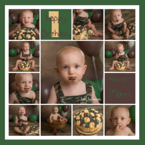 Collage Babyfotos military camouflage
