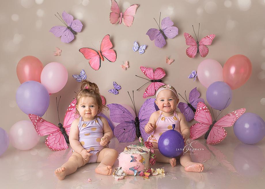 Zwillinge kinderfotoshooting