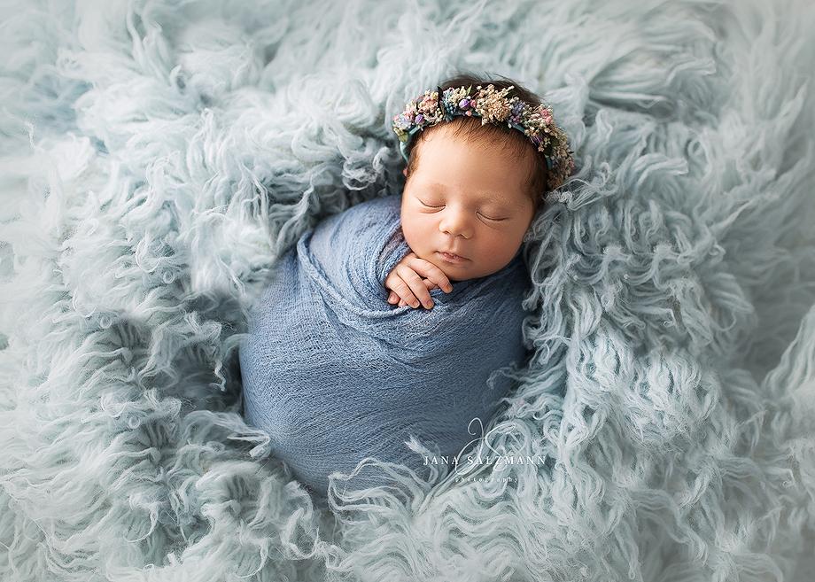babybild blau