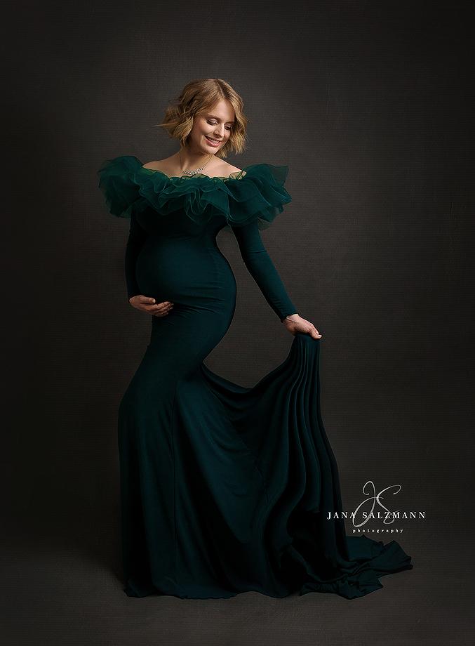 babybauch Fotoshooting Kleid